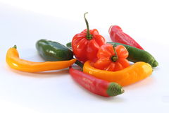 Chili pepper mix Royalty Free Stock Photography