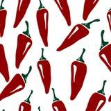 Chili pepper pattern Stock Photo