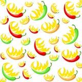 Chili pepper pattern. Vector illustration beautiful background Stock Image