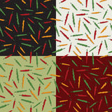 Chili pepper patterns Stock Images
