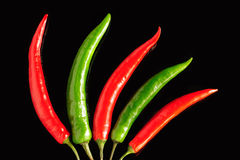 Chili pepper pods Stock Images