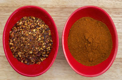 Chili pepper powder Royalty Free Stock Photos