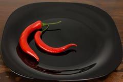 Chili Pepper rosso Fotografie Stock Libere da Diritti