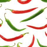 Chili pepper seamless background Royalty Free Stock Image