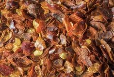Chili Pepper secado machacado Fotografía de archivo libre de regalías