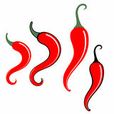 Chili Pepper. Sign. Vector illustration (EPS 10) + alternate file (CDR 10 Royalty Free Stock Images
