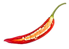 Chili pepper slice Stock Photos