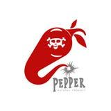 Chili pepper vector logo illustrations Royalty Free Stock Photos