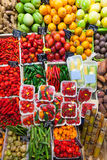 Chili pepper and  vegetables on  market Royalty Free Stock Photos