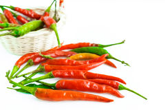 Chili pepper on a white background.  Stock Images