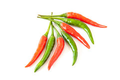Chili pepper on a white background. Fresh chili pepper isolated on a white background Royalty Free Stock Images