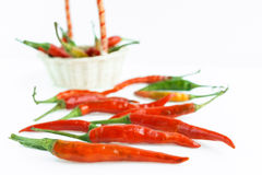 Chili pepper on a white background. Isolated Stock Images