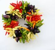Chili Pepper Wreath Royalty Free Stock Photos