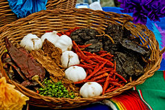 Free Chili Peppers And Garlic Bulbs Royalty Free Stock Photography - 13309147