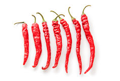 Chili Peppers arranged small to large Stock Photo