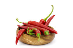 Chili peppers in a bowl Royalty Free Stock Photos