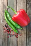 Chili and peppers Stock Photography