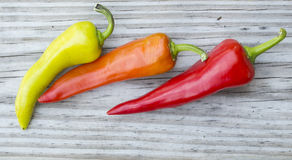Chili peppers close up stock photo