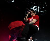 Chili Peppers d'un rouge ardent de concert images stock