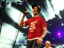 Chili Peppers encarnado no concerto fotografia de stock royalty free