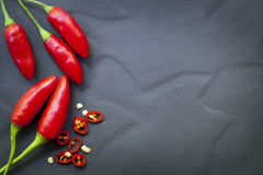 Chili Peppers Food Background rojo Foto de archivo
