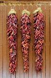 Chili Peppers Hanging Ristras Royalty Free Stock Photo