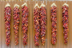 Chili Peppers Hanging Ristras Royalty Free Stock Image