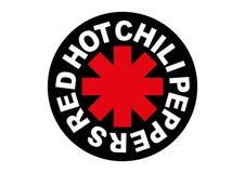 Chili Peppers Logo rovente illustrazione vettoriale