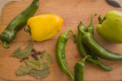 Chili peppers and paprika Royalty Free Stock Image