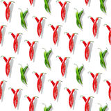 Chili peppers pattern Royalty Free Stock Image