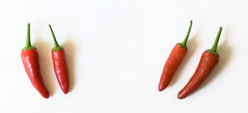Chili peppers in Quote Unquote Royalty Free Stock Photography
