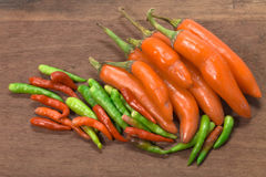 Chili peppers. Red hot chili peppers in isolated background Stock Photography