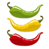 Chili peppers.   Stock Image