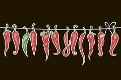 Free Chili Peppers Set Stock Photography - 168055712