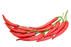 Chili peppers shape Royalty Free Stock Photo