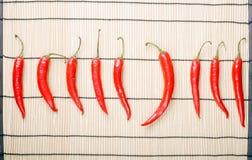 chili pieprze dziewięć zdjęcie stock