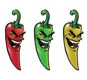 chili pieprze zli gorący Obrazy Stock