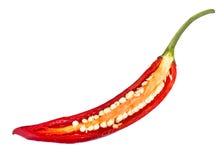 Chili pieprzu plasterek zdjęcia stock