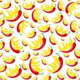 Chili pieprzu wzór Obrazy Royalty Free