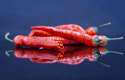 chili pieprzy czerwień zdjęcia stock