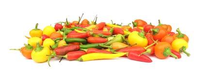 Chili pieprzy paprykę Fotografia Stock