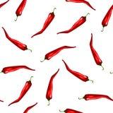 Chili pieprzy wzór Obrazy Stock
