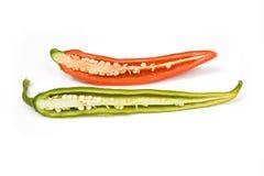 chili połówki Zdjęcia Royalty Free