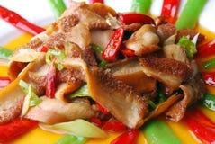 chili porcelanowy wyśmienicie jedzenie smażący świniowaty żołądek Zdjęcie Royalty Free