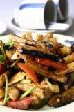 chili porcelanowy wyśmienicie oberżyny jedzenie Obraz Stock