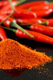 Chili Powder Arkivfoton