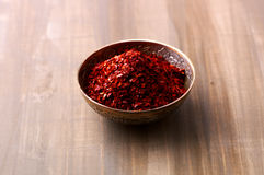 Chili powder in a bowl Stock Photography