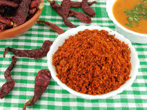 Chili Powder. In a bowl Stock Photography