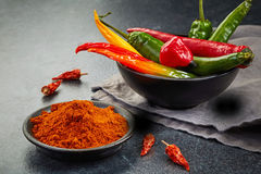 Chili powder Stock Photography