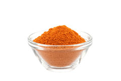 Chili powder in glass bowl Royalty Free Stock Photography